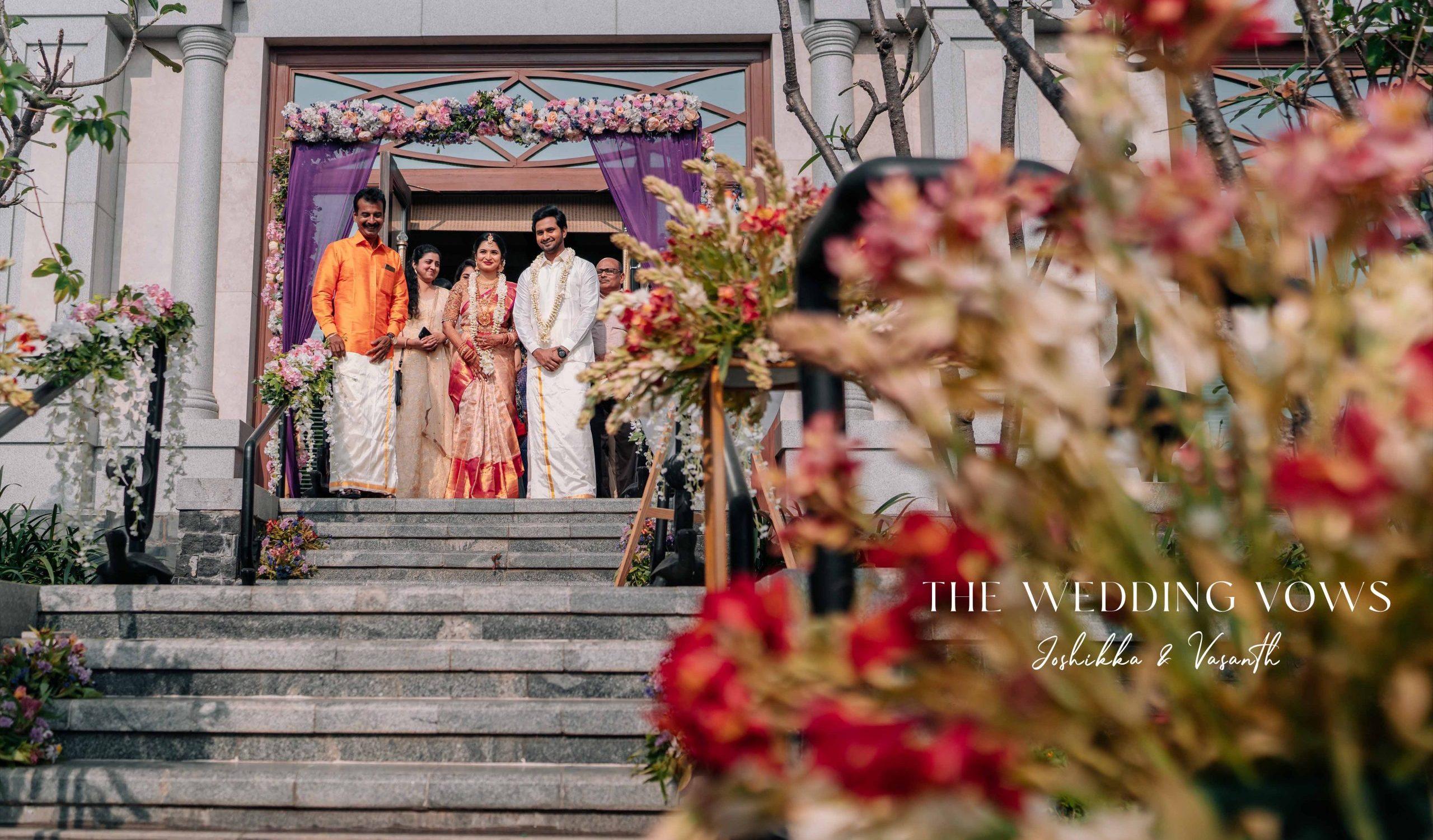Joshikka _ Vasanth wed
